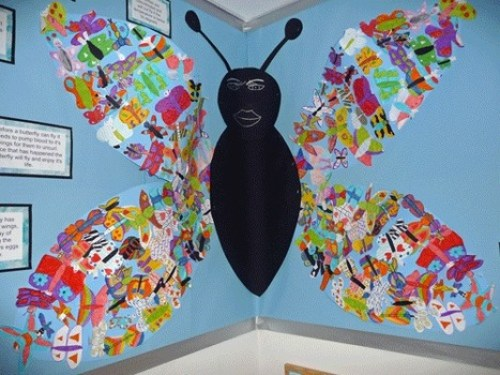 Student artwork accompanying the Butterfly Garden Project organised by the Rotary Club of Roundhay