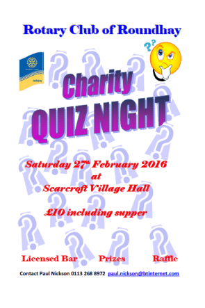 Rotary Club of Roundhay Quiz Night