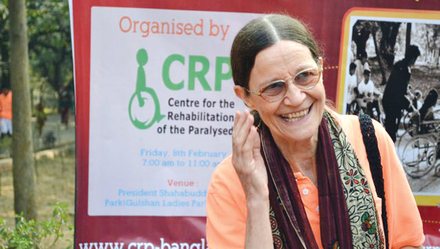 Valerie Taylor established the Centre for the Rehabilitation of the Paralysed (CRP) in 1979