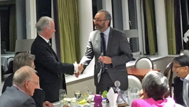 Dr Nathan visited the Rotary Club of Roundhay to talk about Pancreatic Cancer