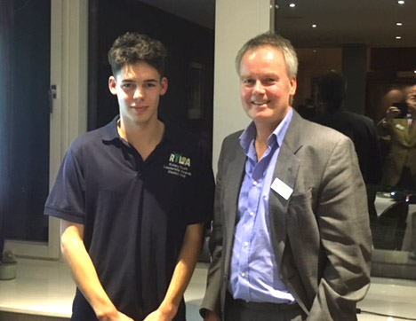 RYLA candidate Isaac Primrose with Rotarian John Hartley
