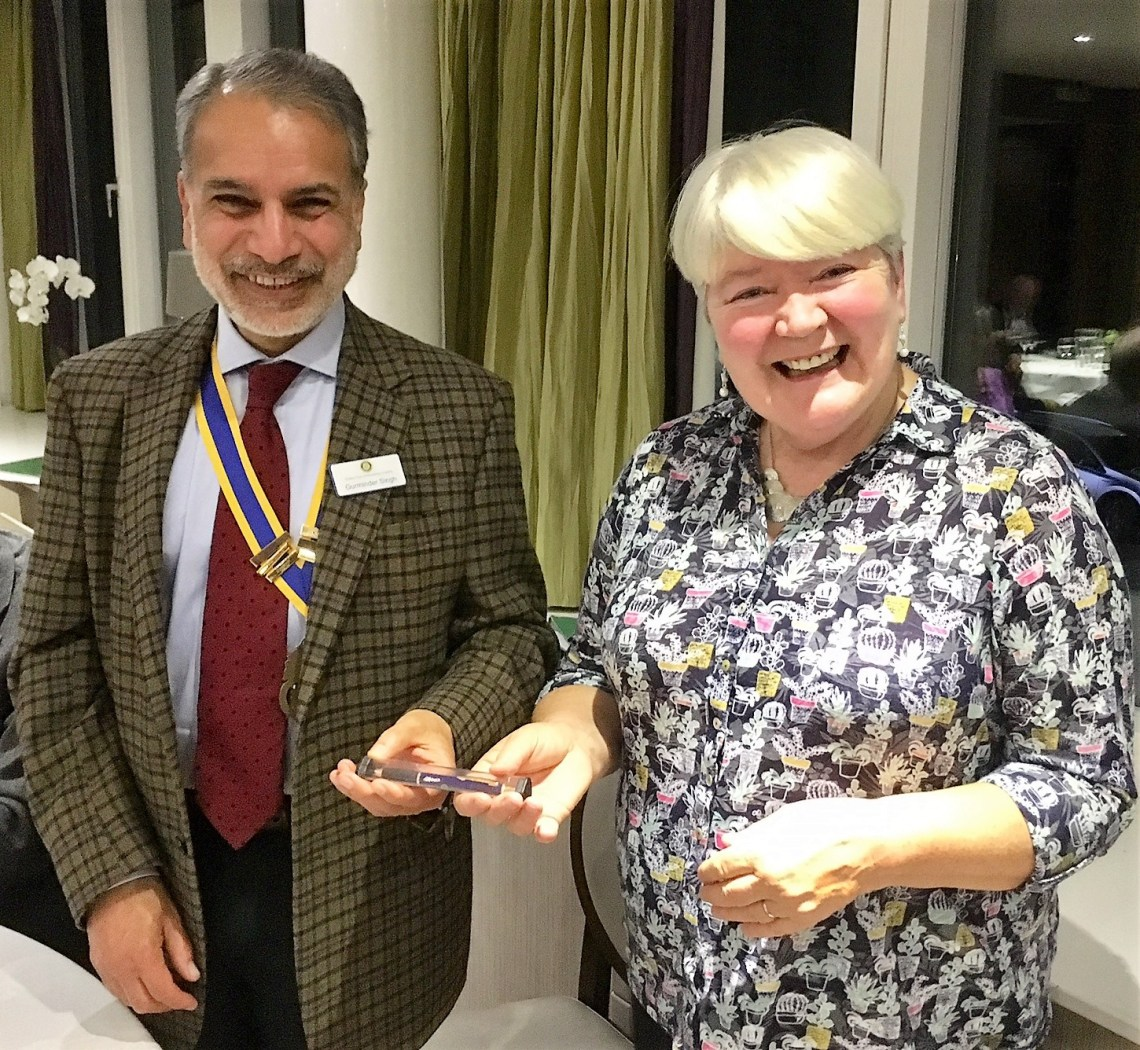 Health for All chief executive Pat McGeever with president Gurminder