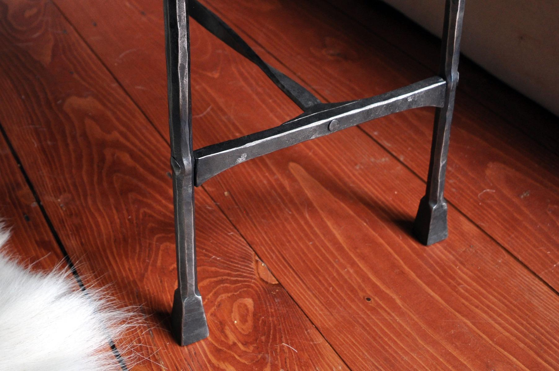 Eric Dennis Ironwork Blacksmithing Rivet Joinery Table legs