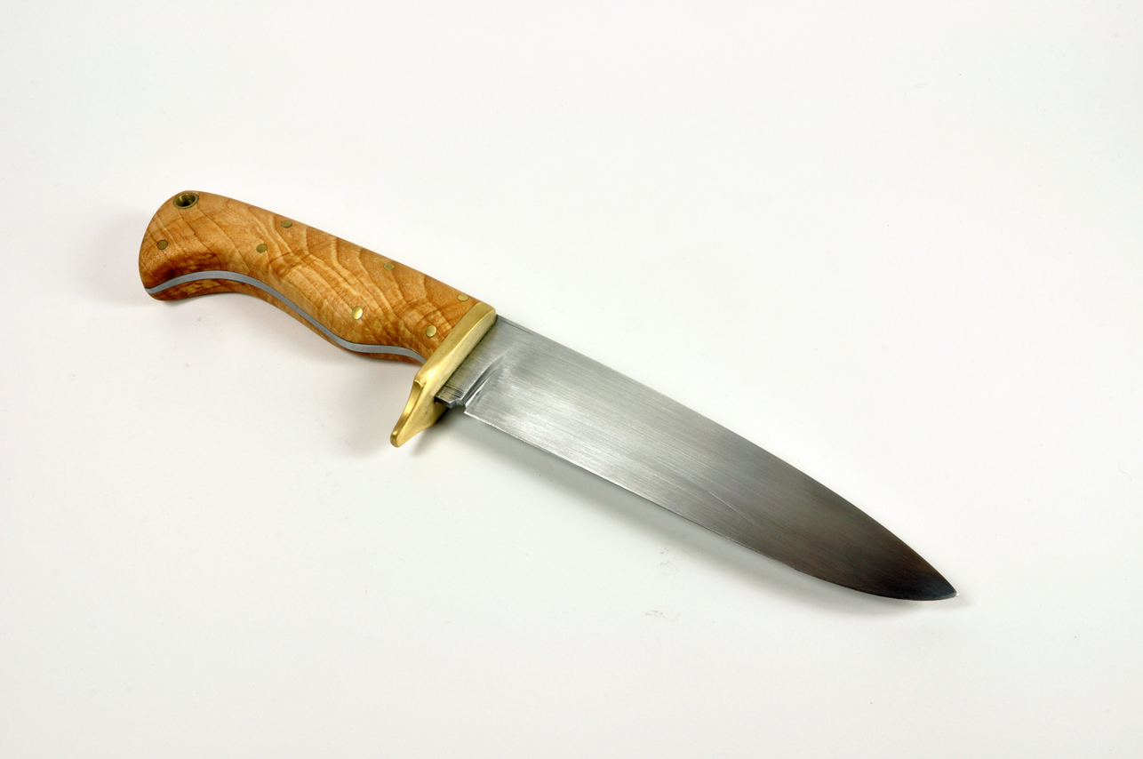 Hand Forged Knife with Brass Guard Eric Dennis