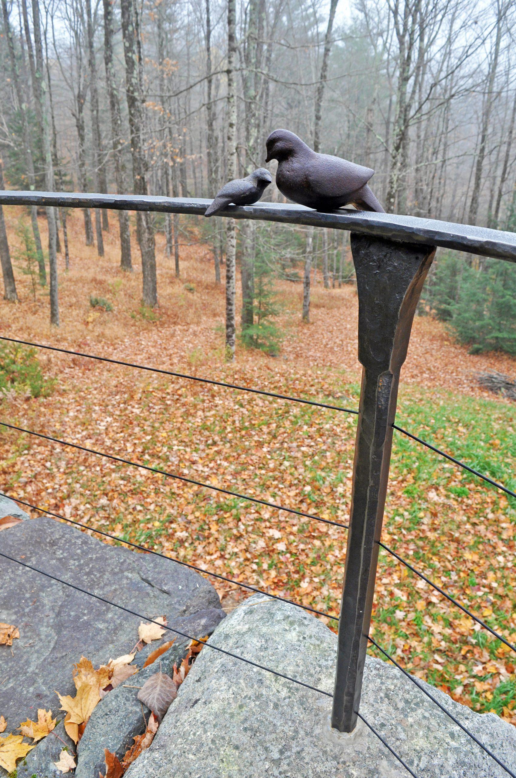 Guard rail hand forged ironwork