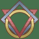 Round Square Triangle Logo