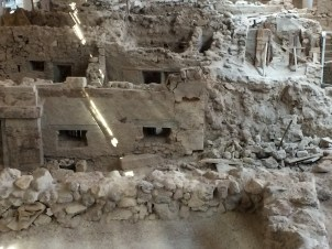Buildings at ancient Akrotiri
