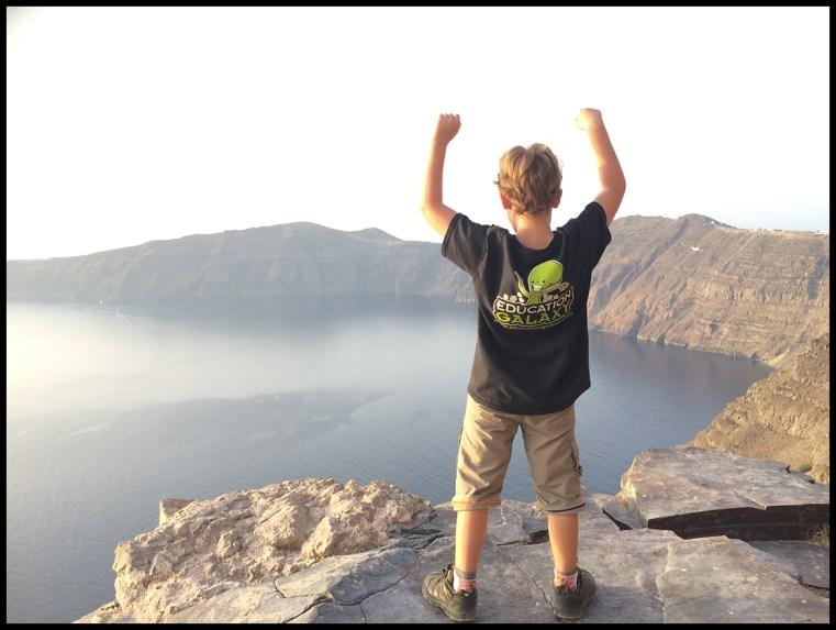 On the Caldera's edge at sunset