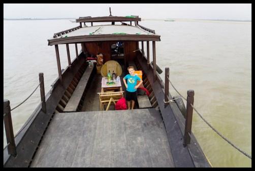 Took a ride in a teak boat