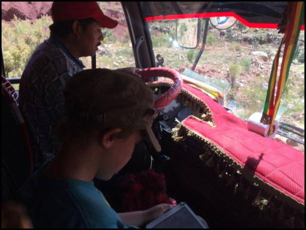 Got to ride in the cab of the truck on the way to Sucre.