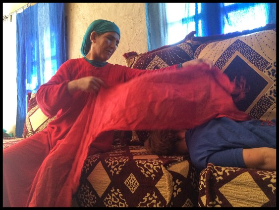 My Moroccan Grandma taking care of me while I was sick.
