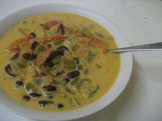 Mmm, coconut bean soup