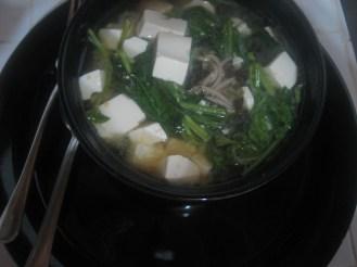 Miso with Tofu and Kangkong