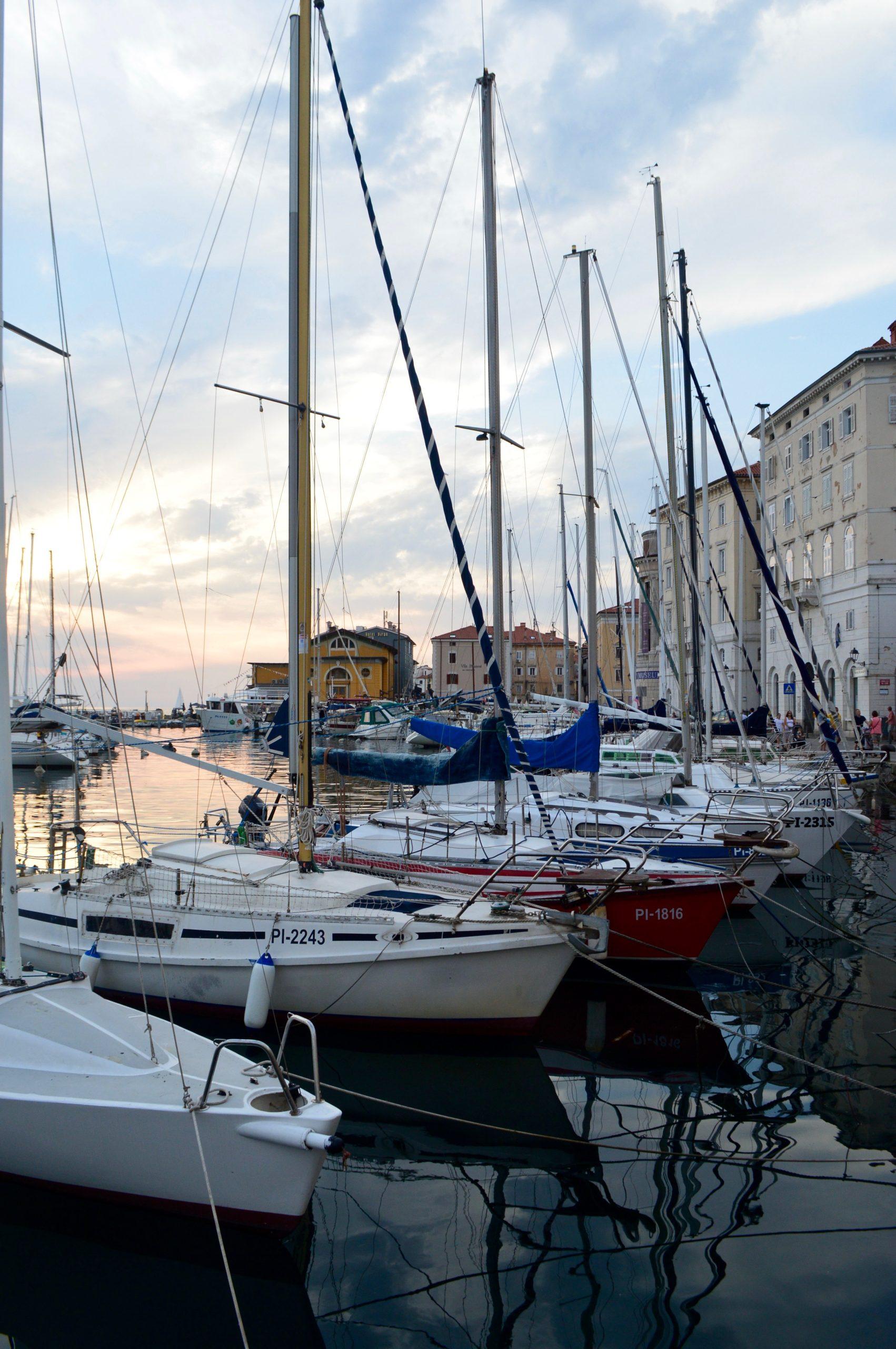Boats Adriatic Sea Piran Portorose Slovenia
