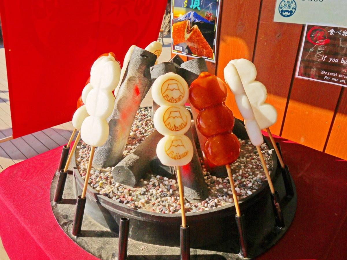 糯米糰子| 炭烤糯米糰子 | たぬき団子 | 月うさぎの黒蜜きなこ団子 | 山梨 | 巡日旅行攝