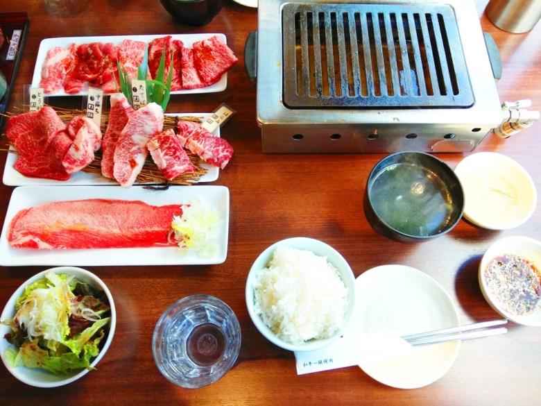 日本和牛燒烤套餐 | 白飯 | 沾醬 | 沙拉 | 日本 | Japan | RoundtripJp