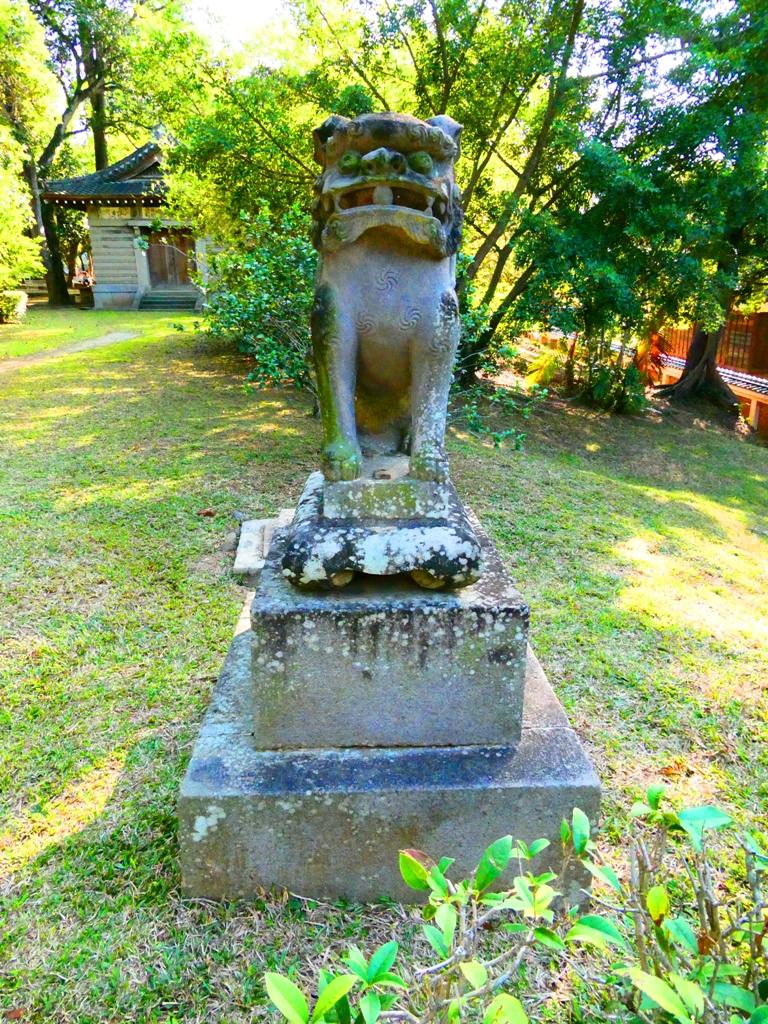 嘉義神社狛犬   祭器庫   嘉義公園內   嘉義神社遺跡   Chiayi Shrine Ruins   嘉義   臺灣   RoundtripJp