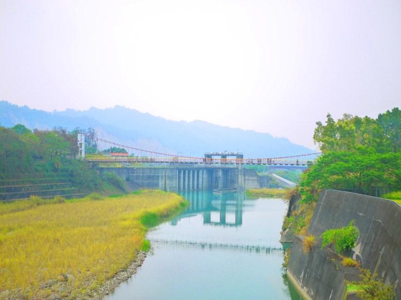 遠眺桶頭吊橋   桶頭攔河堰   清水溪   青い溪流   日本味   Takeyama   Zhushan   Nantou   巡日旅行攝