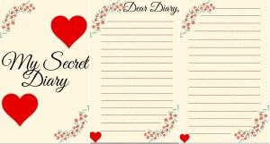 printable pages diaries