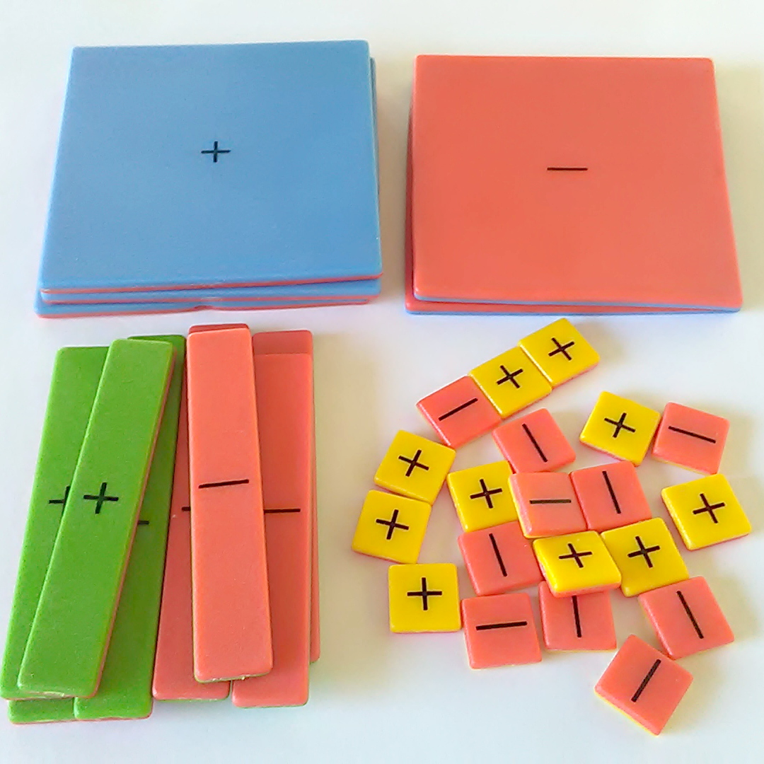 Student Math Lot Algebra Tile Kit Spinner Geo Reflector