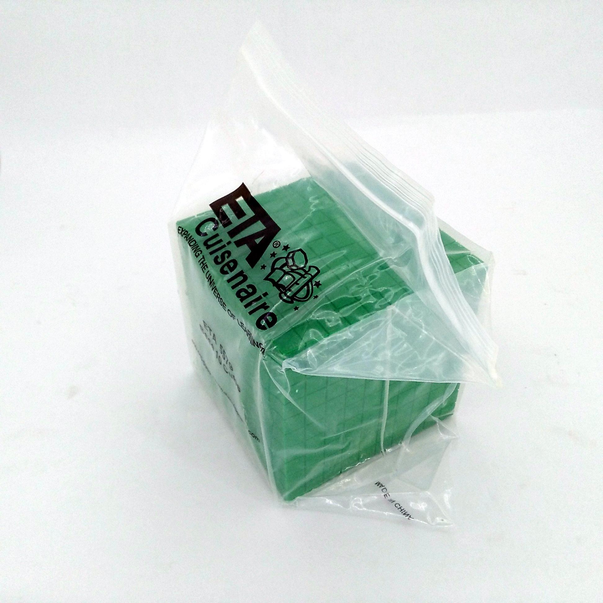 Eta Hand2mind Green Plastic Cube
