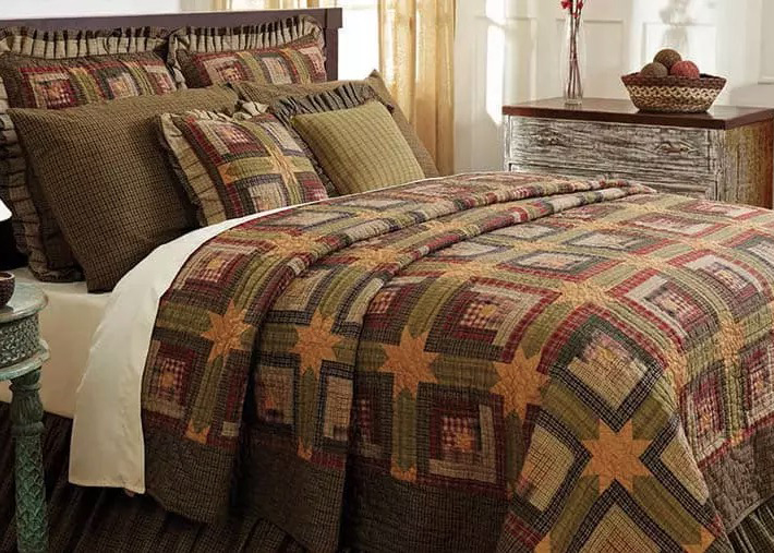 Rustic Home Decor - Tea Cabin VHC Bedding Quilt Set