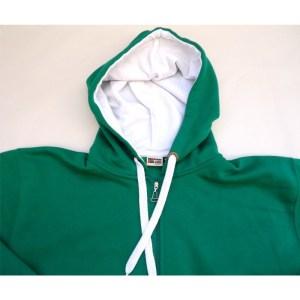 casaco hoody verde