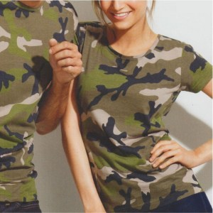 T-shirt camuflada senhora