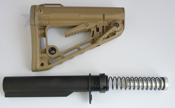 RSS Rogers Super Stoc Stock Deluxe with Mil Spec Buffer tube Assembly FDE Flat Dark Earth Austin Texas USA