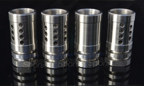 """Stainless Steel A2 Flash Hider Fox Hole Half Cage 1/2""""-28 9/16""""-24 5/8""""-24 Best Wholesale Discount Prices AR15 M16 M4 Austin Texas USA 8"""