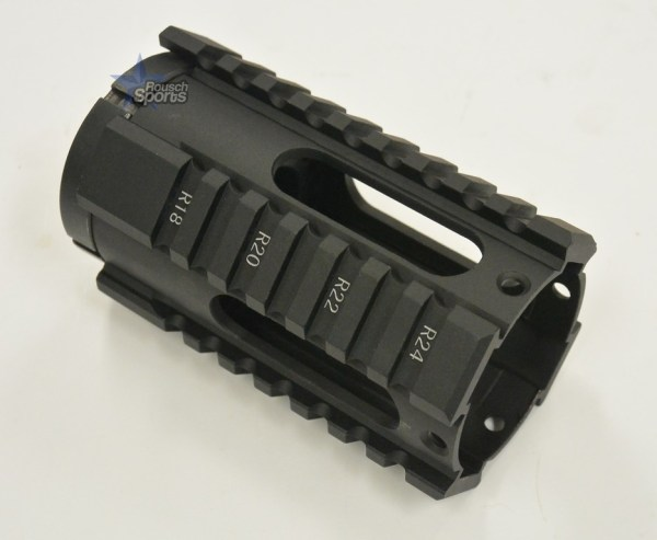 4 Inch Oval Free Float Quad Rail Handguard Forend Pistol Length Austin Texas AR15 AR15 M16 M4 Parts and Accessories Best Discount Wholesale Prices Rousch Sports