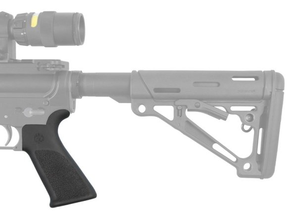 Hogue AR15 M16 Rubber Grip Beavertail No Finger Grooves Black AR 15 M4 M16 Best Discount Wholesale AR Parts and Accessories Austin Texas USA