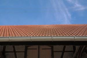 Canalones en un tejado