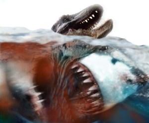 A FUCKING SHARK VS A FUCKING T-REX!