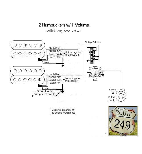 guitar wiring diagram 2 humbucker 1 volume tone wiring diagram humbucker volume 1 tone the on source craig s giutar tech resource wiring diagrams