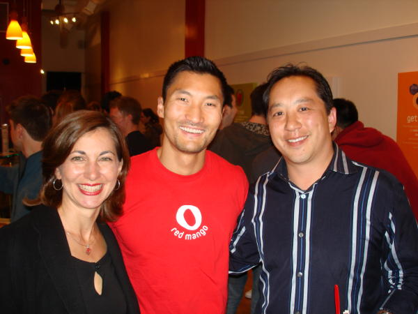 My wife, Yul Kwon, and some guy who needed to lose weight