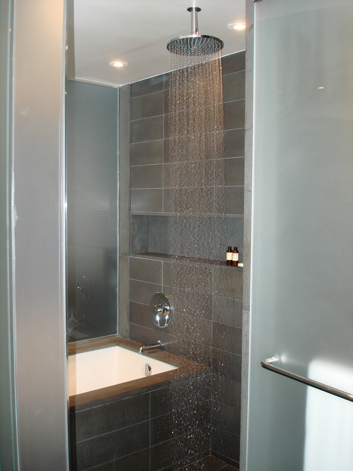 Waterfall Shower and bath tub