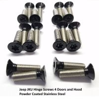 Jeep JKU Powder Coated Hinge Screw Set