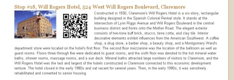 Web site screen shot with QR code
