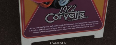 Corvette Summer Placard Close Up