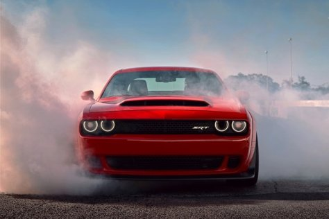 Dodge Demon Smoking the Tires