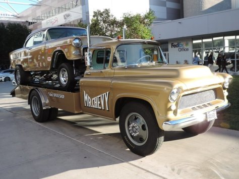 55 Chevy and Hauler