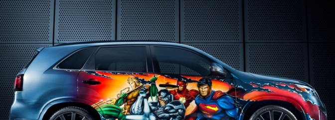 Justice League Kia Sorento at Comic Con in San Diego