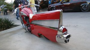 1957 Chevy Bel Air Motorcycle