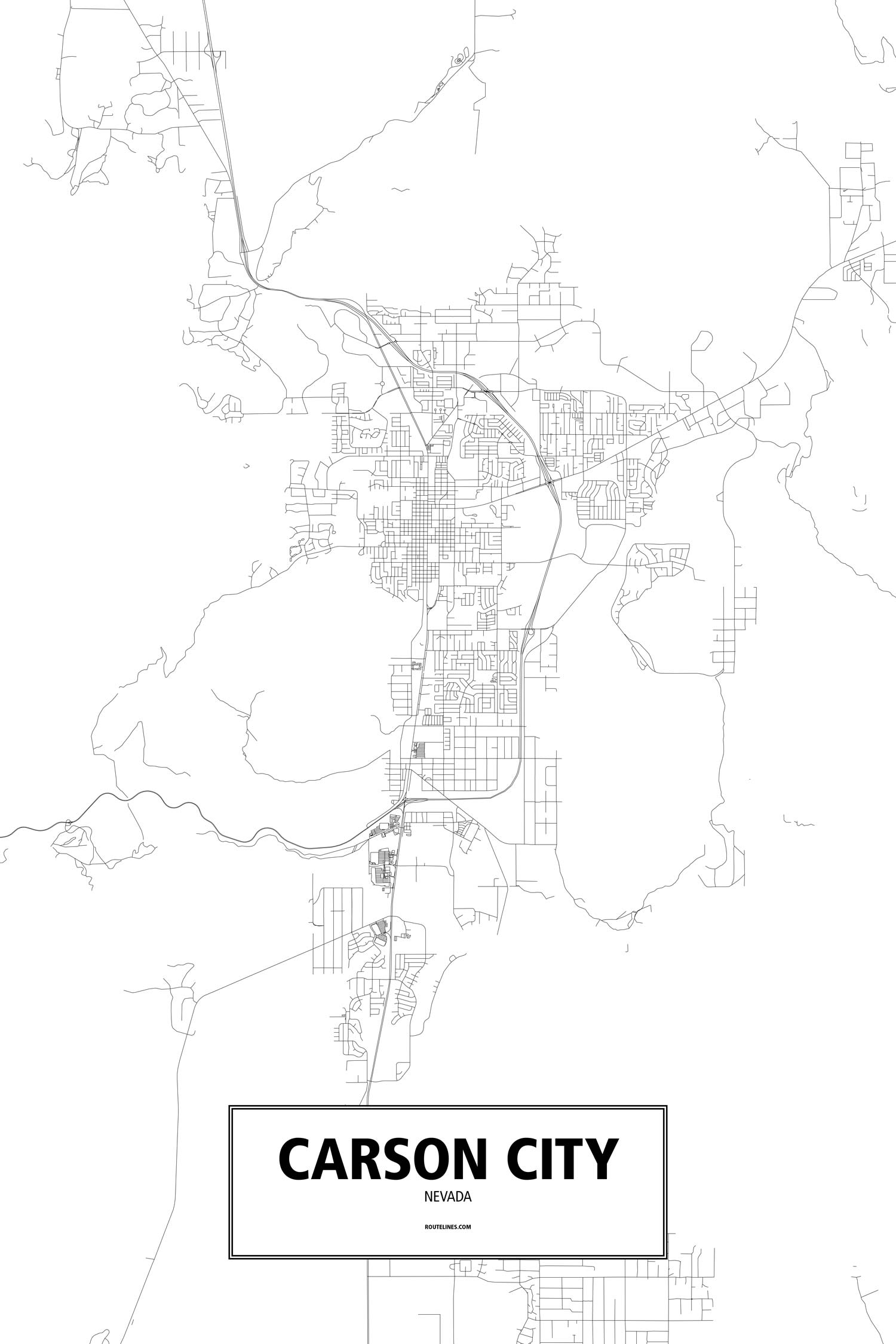 Map Of State In Carson City | Wiring Diagram Database Carson City Nv Map on