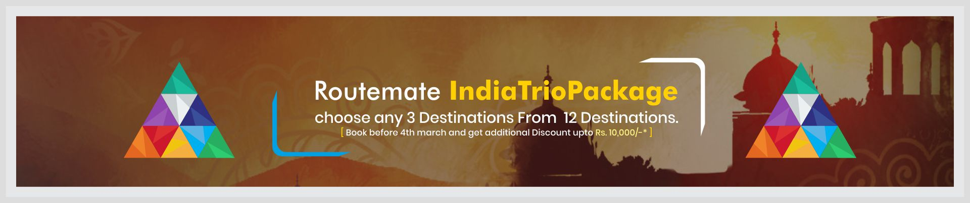 routemate india trio package home page offer
