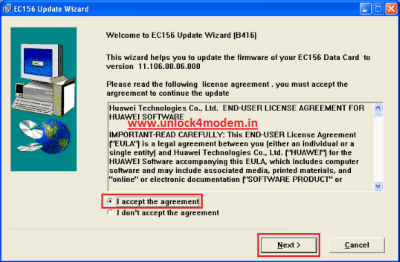 Firmware update - EC156 modem