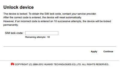 unlock vodacom R201 WiFi MiFi router gateway