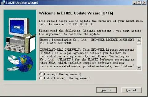 Huawei modem firmware update