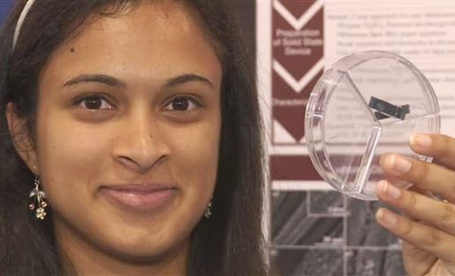Eesha Khare revolutionary device - super-capacitor device